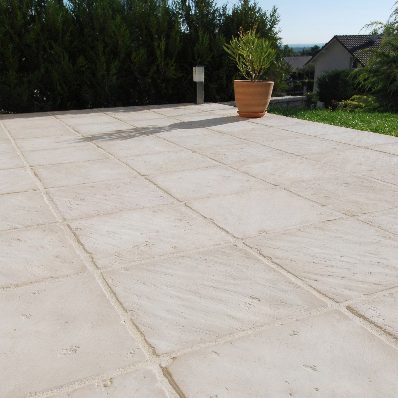Terrasse dalle pierre reconstituée