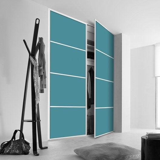 porte de placard pivotante sur mesure kazed kanza de 38 60 cm leroy merlin. Black Bedroom Furniture Sets. Home Design Ideas