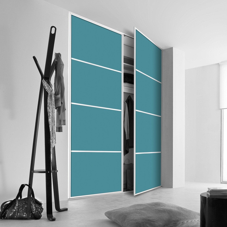 porte de placard pivotante sur mesure kazed kanza de 60 1 80 cm leroy merlin. Black Bedroom Furniture Sets. Home Design Ideas