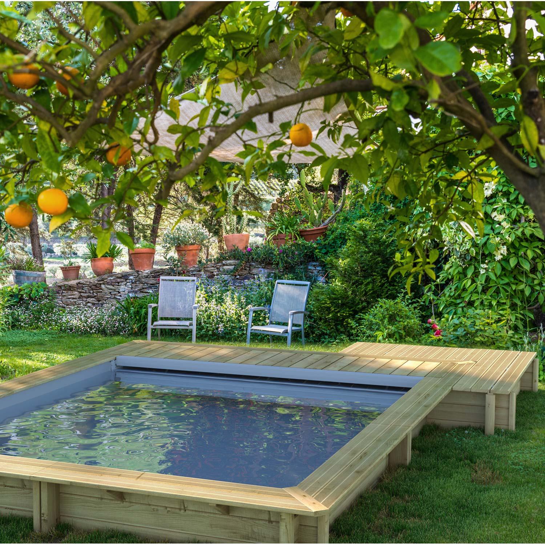 Piscine En Bois Petite Taille piscine bois urbaine bwt mypool, l.4.2 x l.3.5 x h.1.33 m