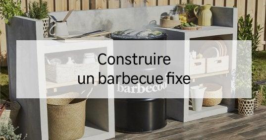 Guide vivre dehors leroy merlin - Construire son barbecue ...