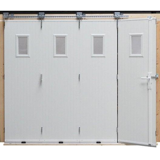 porte de garage coulissante ouverture lat rale porte de garage avec portillon au meilleur prix. Black Bedroom Furniture Sets. Home Design Ideas