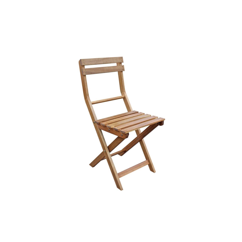 lot de 2 chaises de jardin en bois porto brun leroy merlin. Black Bedroom Furniture Sets. Home Design Ideas