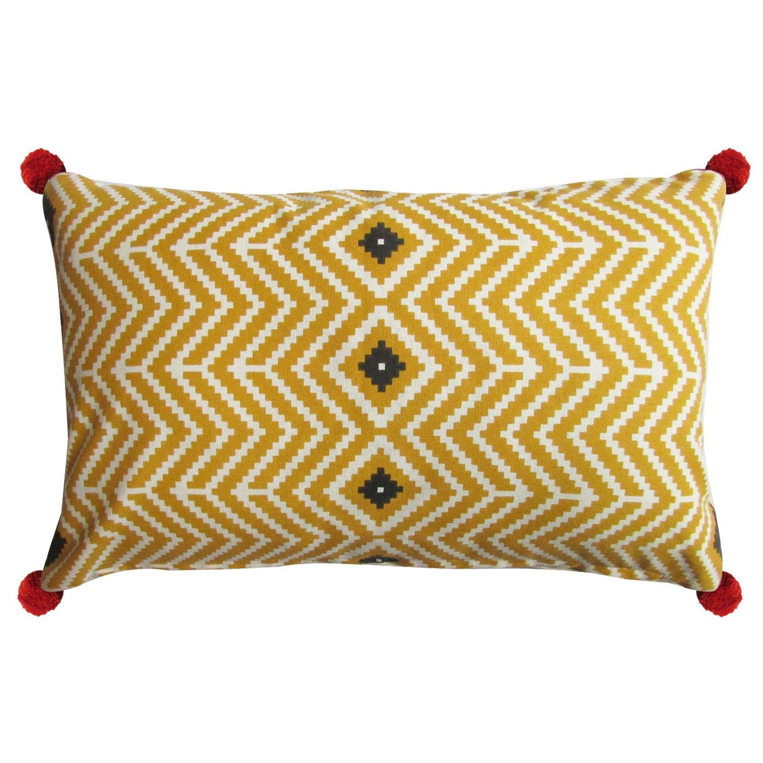 coussin mexico inspire, moutarde l.50.0 x h.30.0 cm | leroy merlin