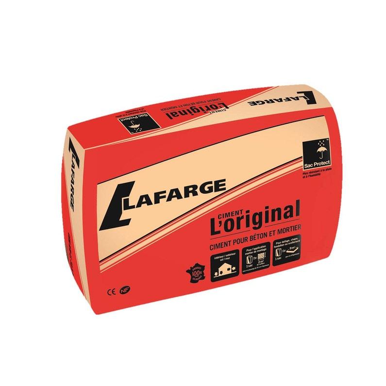 Ciment Gris Nf Loriginal Lafarge 25 Kg