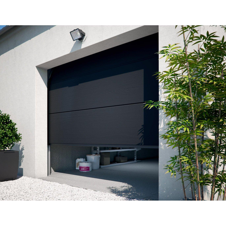 porte de garage sectionnelle motoris e primo x cm leroy merlin. Black Bedroom Furniture Sets. Home Design Ideas