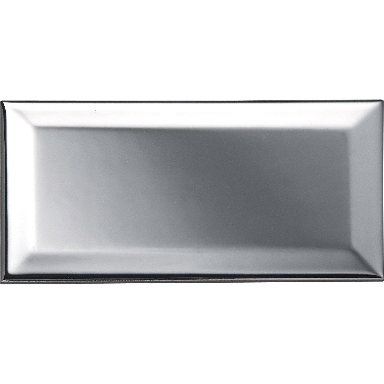 Carreau Métro argent, l.7.5 x L.15 cm | Leroy Merlin