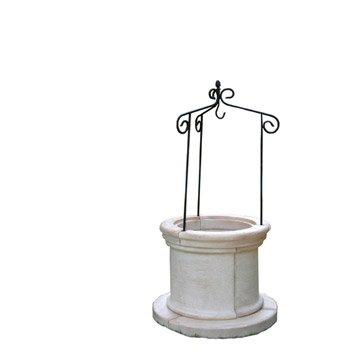 puits en pierre reconstitu e art sien. Black Bedroom Furniture Sets. Home Design Ideas