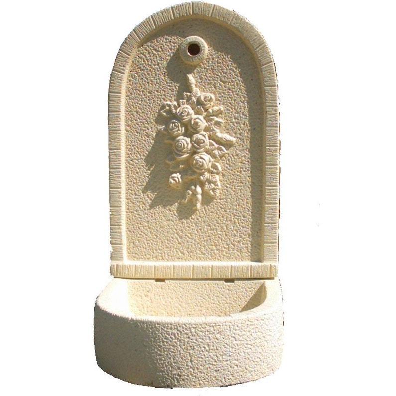 Fontaine de jardin en pierre reconstituée ton pierre Bouquet de ...