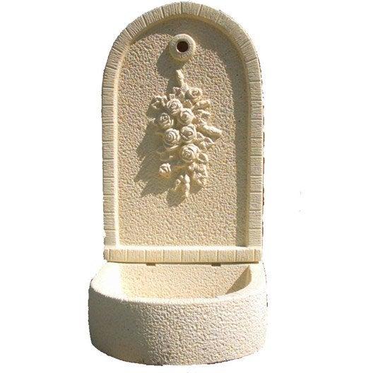 fontaine en pierre reconstitu e ton pierre bouquet de. Black Bedroom Furniture Sets. Home Design Ideas