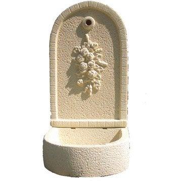 Fontaine de jardin en pierre reconstituée ton pierre Bouquet de fleurs