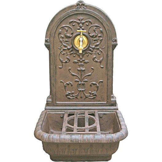 Fontaine de jardin en fonte rouille Renaissance | Leroy Merlin