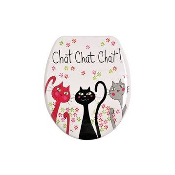 Abattant WC Chat multicolore