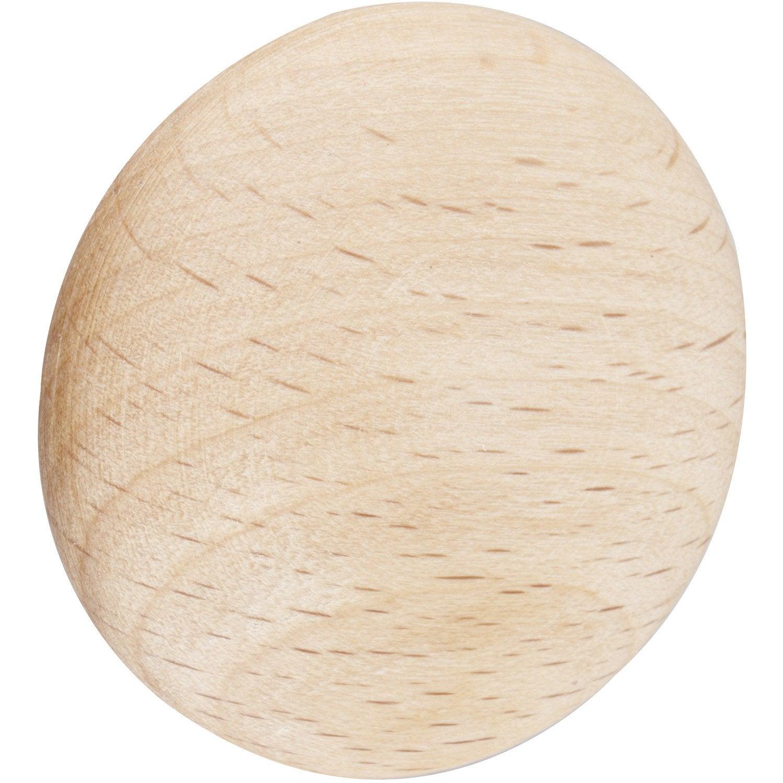 charmant Bouton de meuble Dune, bois brut