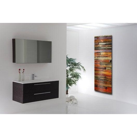 radiateur lectrique rayonnement arteo d coratif 1000 w leroy merlin. Black Bedroom Furniture Sets. Home Design Ideas