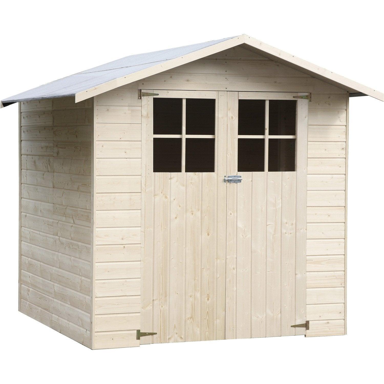Abri de jardin bois Timmins, 3.24 m² Ep.12 mm | Leroy Merlin