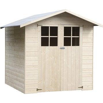 Abri de jardin en bois Nervic NATERIAL, 3.24 m², ép. 12 mm