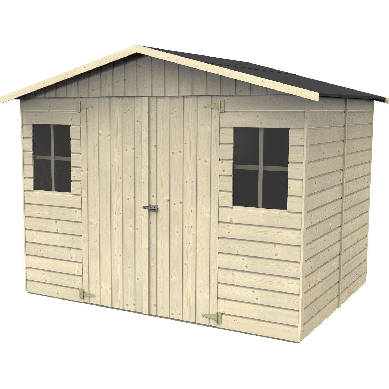 Abri de jardin bois Noranda, 6.15 m² Ep.19 mm | Leroy Merlin
