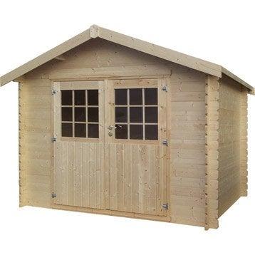Abri de jardin en bois Kirkland NATERIAL, 6.77 m², ép. 28 mm