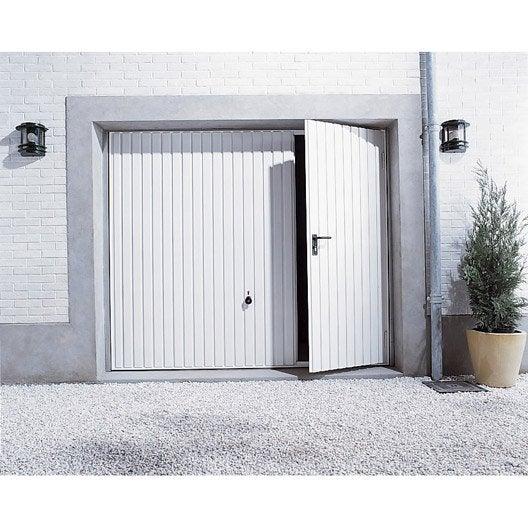 Porte De Garage Basculante N80 Portillon Gauche Primo X Cm Leroy Merlin