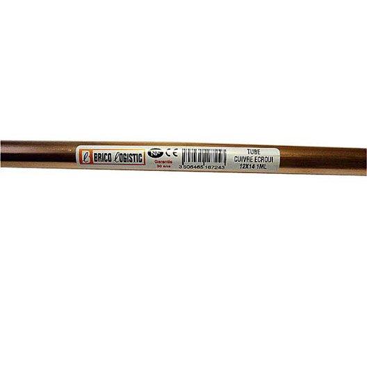 tube d 39 alimentation cuivre croui x 14 mm en barre de 2 m leroy merlin. Black Bedroom Furniture Sets. Home Design Ideas