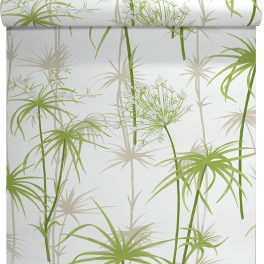 Papier peint intissé Papyrus vert