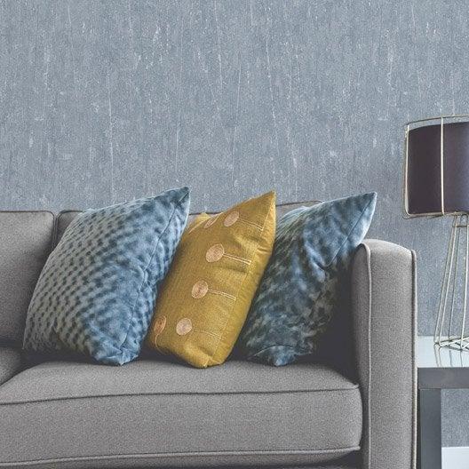 papier peint vinyle sur intiss ecorce v g tale bleu gris leroy merlin. Black Bedroom Furniture Sets. Home Design Ideas