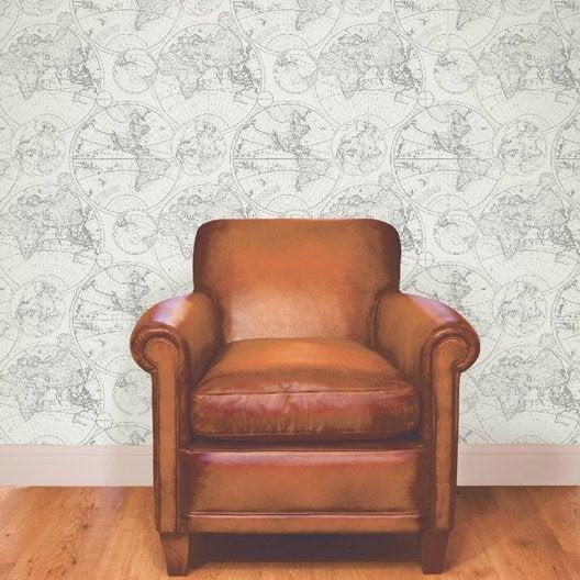 papier peint intiss planisph re cru leroy merlin. Black Bedroom Furniture Sets. Home Design Ideas