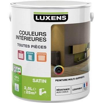 Peinture blanc calcaire 3 LUXENS Couleurs intérieures satin 2.5 l