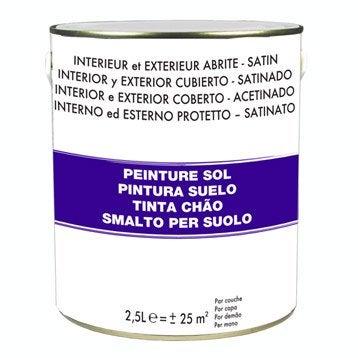 Peinture sol extérieur / intérieur, gris clair, 2.5 l