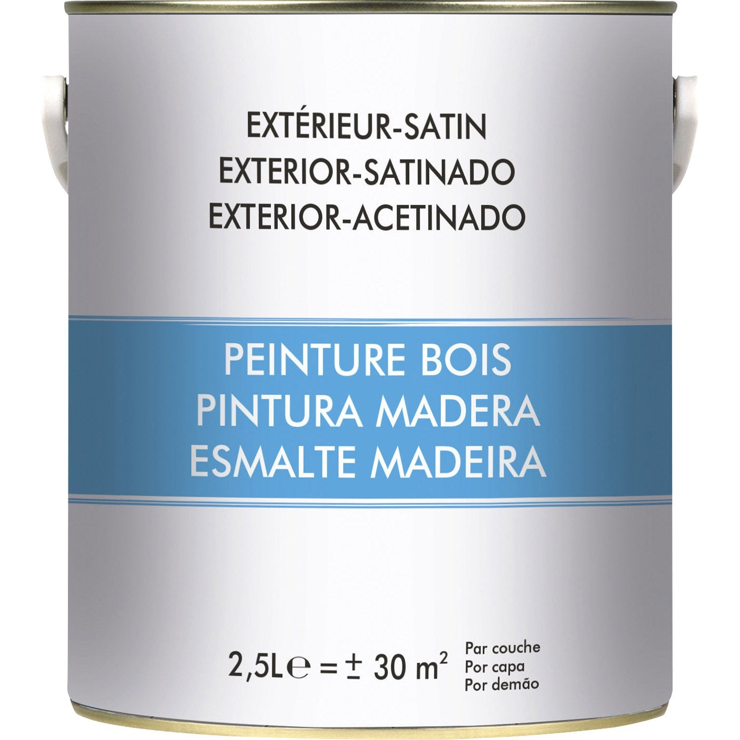 Peinture bois extérieur, blanc, 2.5 l | Leroy Merlin