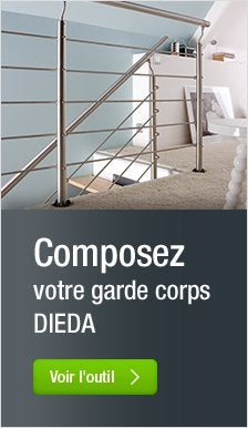 Rampe d 39 escalier main courante leroy merlin - Garde corps inox leroy merlin ...
