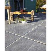 Carrelage sol anthracite effet bois River l.45 x L.45 cm