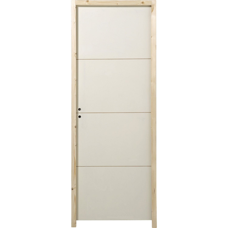 Bloc Porte Isothermique Milan H 204 X L 73 Cm Leroy Merlin