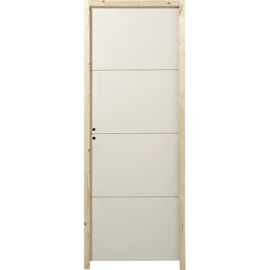 Bloc porte acoustique milan x cm leroy merlin for Dimension bloc porte 83