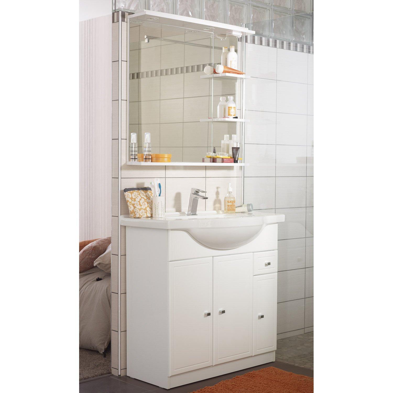 Salle De Bain Galice ~ meuble de salle de bains de 80 99 blanc galice leroy merlin