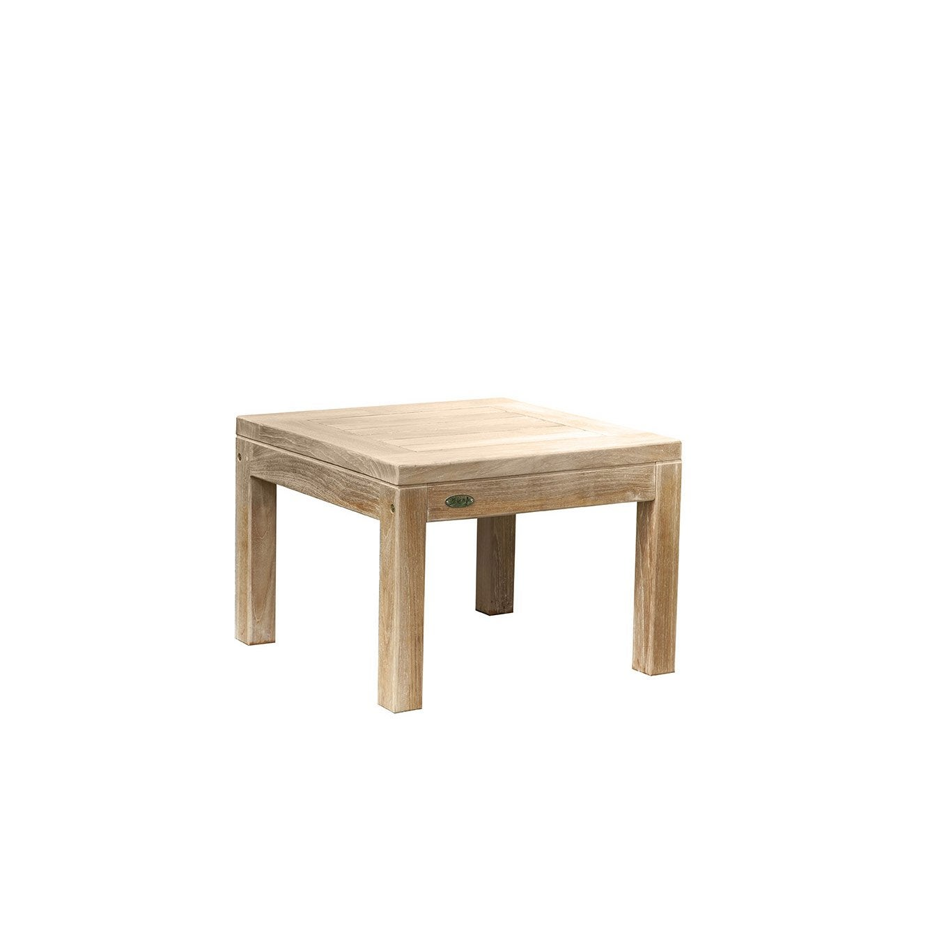 table de jardin basse kent carr e naturel 2 personnes. Black Bedroom Furniture Sets. Home Design Ideas