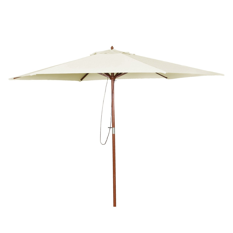 parasol droit kali ivoire rond x cm leroy merlin. Black Bedroom Furniture Sets. Home Design Ideas