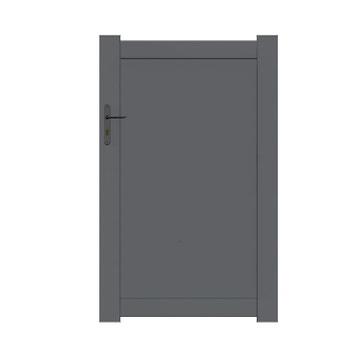 portillon battant naterial klos up x cm anthracite. Black Bedroom Furniture Sets. Home Design Ideas