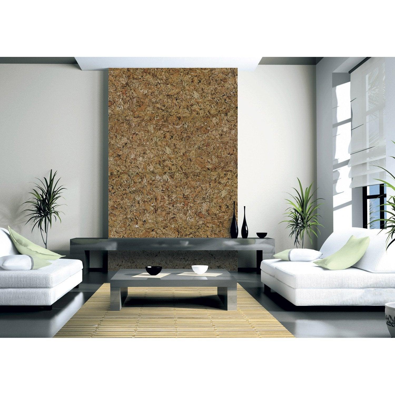 dalle de li ge murale beige x cm leroy merlin. Black Bedroom Furniture Sets. Home Design Ideas