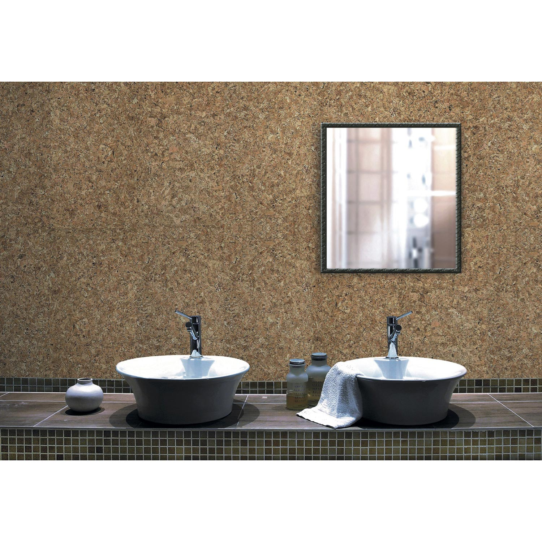 Lot de 15 dalles de liège murales, beige naturel, l.15 x L.15 cm