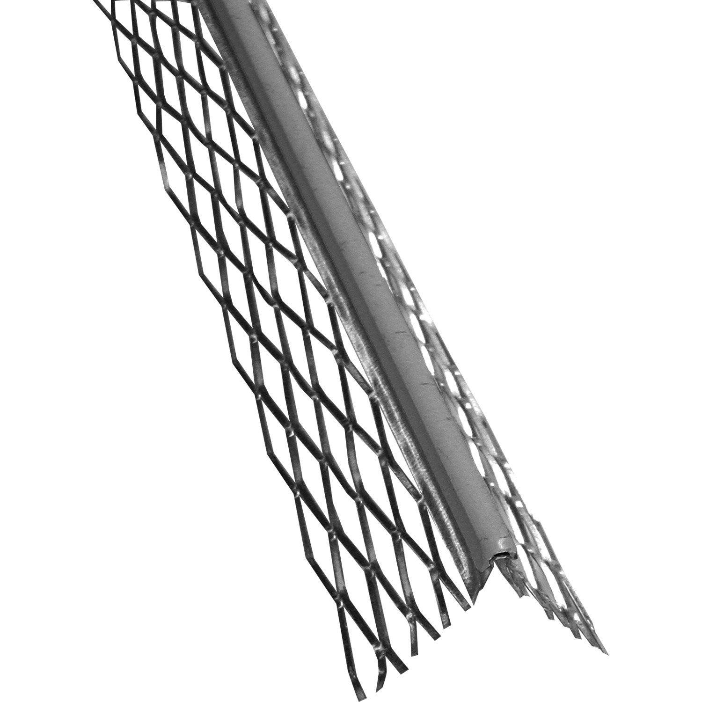Crepi Exterieur Gris Anthracite profil d'angle pour enduit pvc gris, 3 ml