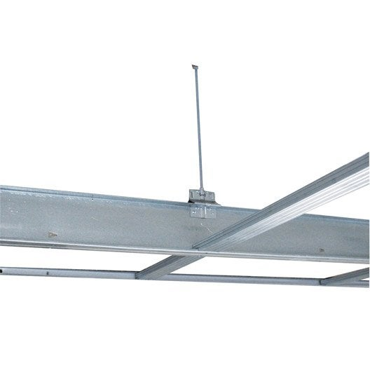 Syst me de plafond suspendu clic en sur mesure leroy merlin for Attache faux plafond