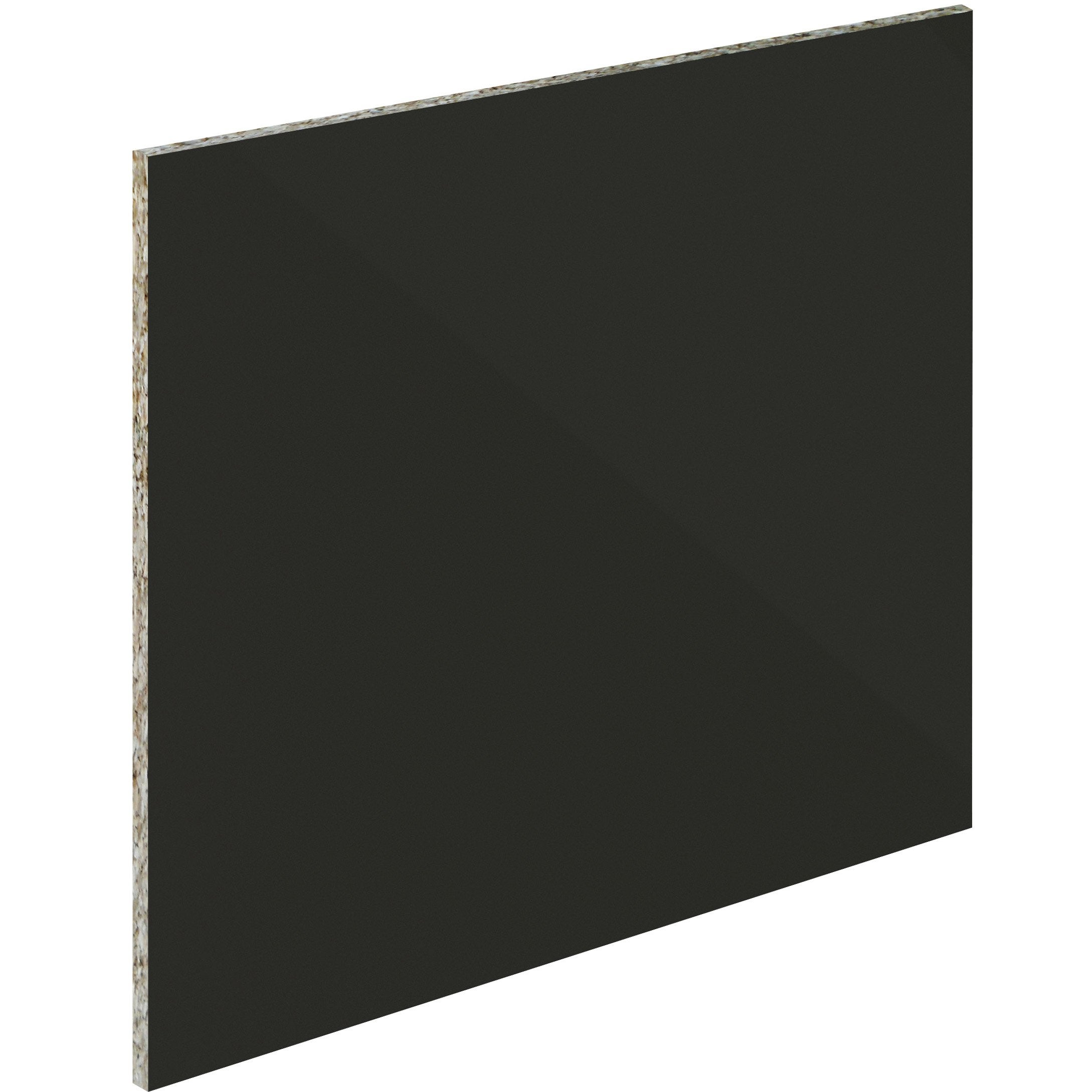 Crédence verre trempé Noir mat délice H.60 cm x Ep.5 mm x L.0.5 cm