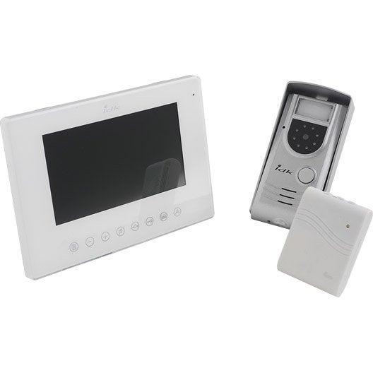 interphone visiophone 2 fils idk pvco 10v leroy merlin. Black Bedroom Furniture Sets. Home Design Ideas