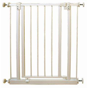 Barrière de sécurité enfant Byblos 4 en métal,  long. min/max 69/73cm, H75 cm