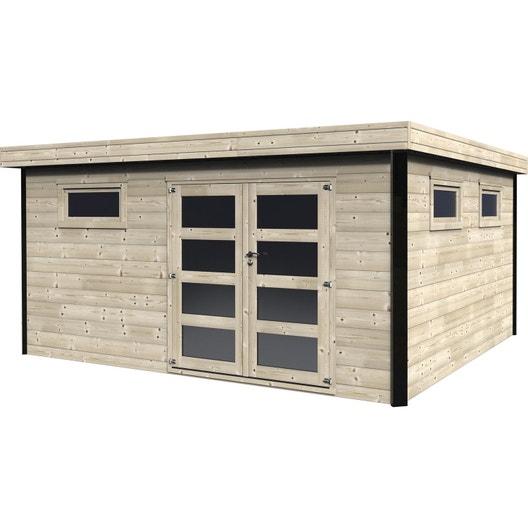 Abri de jardin bois Elite, 16.83 m² Ep.28 mm | Leroy Merlin