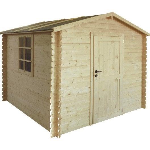 abri bois hokki m mm leroy merlin. Black Bedroom Furniture Sets. Home Design Ideas