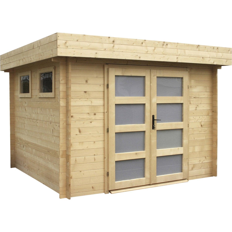 Abri de jardin bois Kivik, 6.69 m² Ep.28 mm | Leroy Merlin