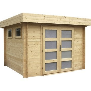 Abri bois Kivik, 6.69 m² Ep.28 mm